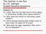 the catcher in the rye by j d salinger guided reading questions28