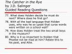 the catcher in the rye by j d salinger guided reading questions29