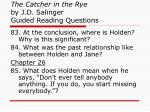 the catcher in the rye by j d salinger guided reading questions31