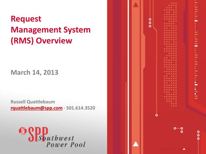 request management system rms overview n.