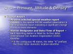ch 3 pressure altitude density23