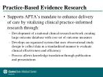 practice based evidence research1