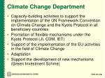 climate change department