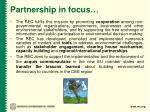 partnership in focus