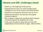 ukraine and gis challenges ahead