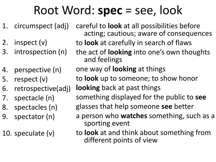 word with spec