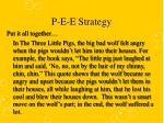 p e e strategy4