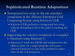 sophisticated runtime adaptations
