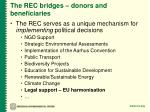 the rec bridges donors and beneficiaries