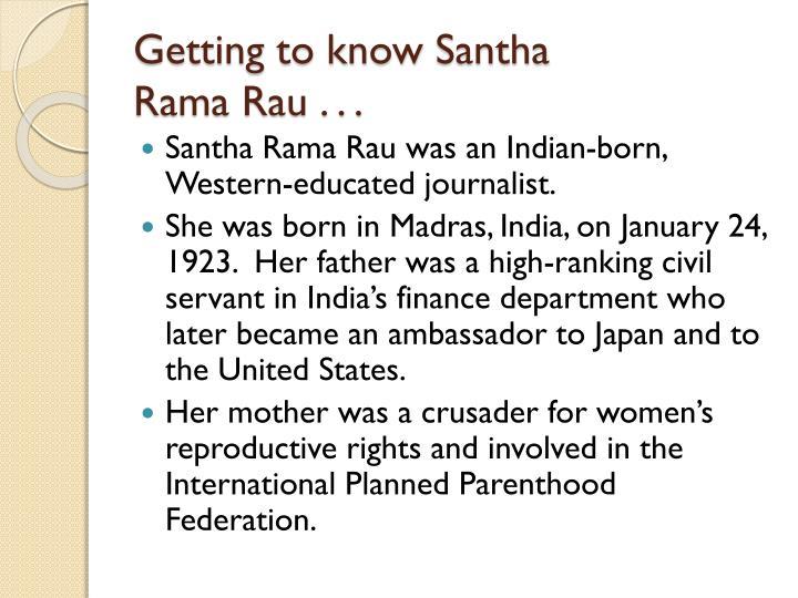 by any other name santha rama rau characters