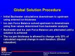 global solution procedure