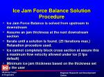 ice jam force balance solution procedure1
