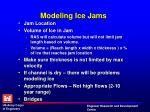 modeling ice jams1