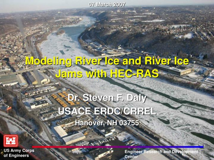 modeling river ice and river ice jams with hec ras n.
