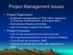 project management issues2