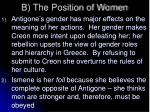 b the position of women