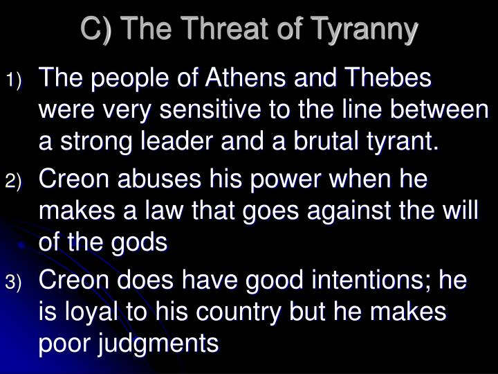 oedipus and creon leaders thebes