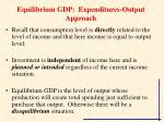 equilibrium gdp expenditures output approach