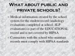 what about public and private schools