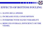 effects of bottom fouling