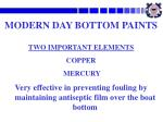 modern day bottom paints