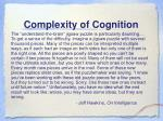 complexity of cognition1