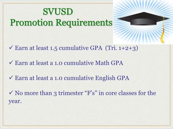 Earn at least 1.5 cumulative GPA  (Tri. 1+2+3)
