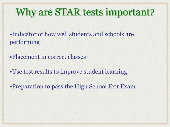 Indicator of how well students and schools are performing