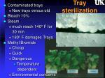 tray sterilization