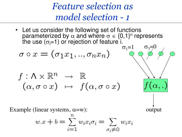 Feature selection as