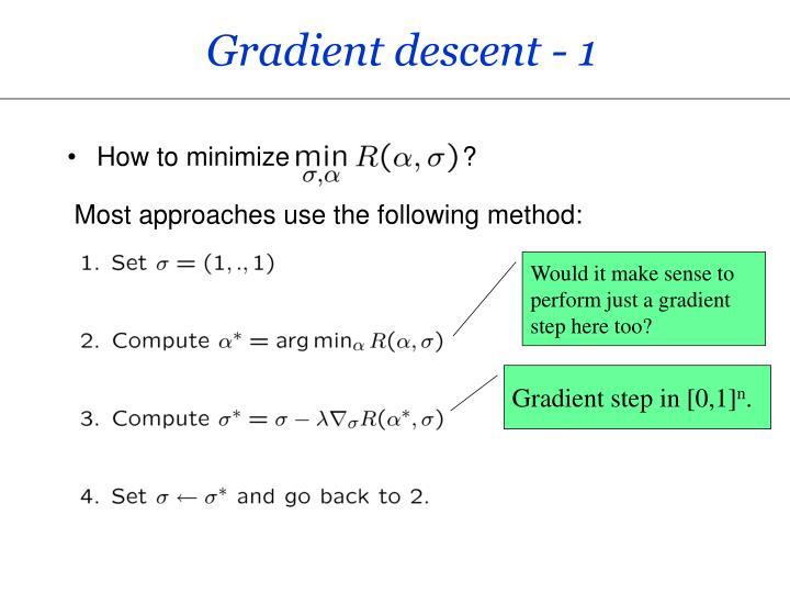 Gradient descent - 1