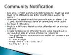 community notification