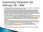 community protection act february 28 1990
