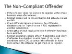 the non compliant offender