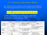 21 3 5 saturation flow rate module