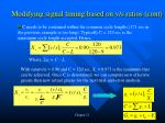 modifying signal timing based on v s ratios cont