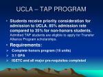 ucla tap program