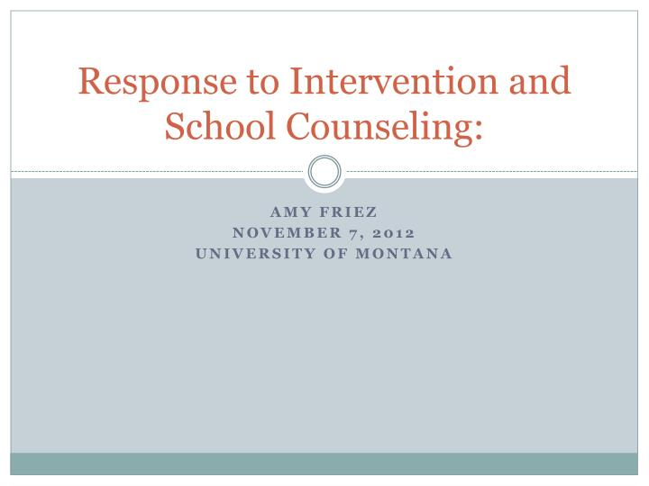 response to intervention and school counseling n.