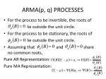 arma p q processes
