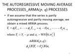 the autoregressive moving average processes arma p q processes