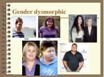 gender dysmorphic