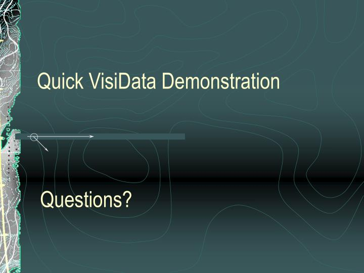 Quick VisiData Demonstration