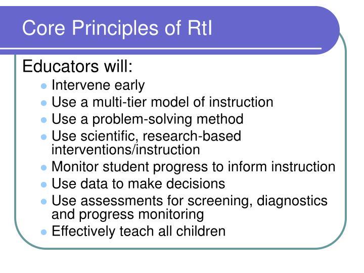 Core Principles of RtI