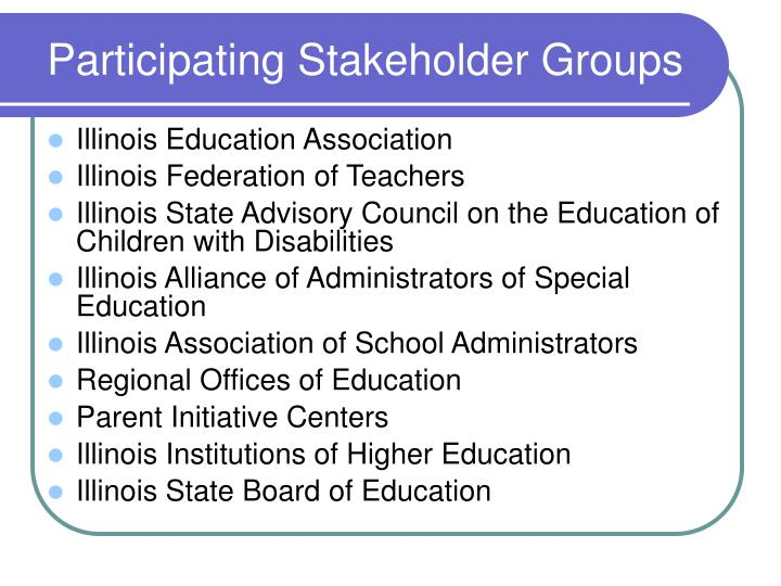 Participating Stakeholder Groups