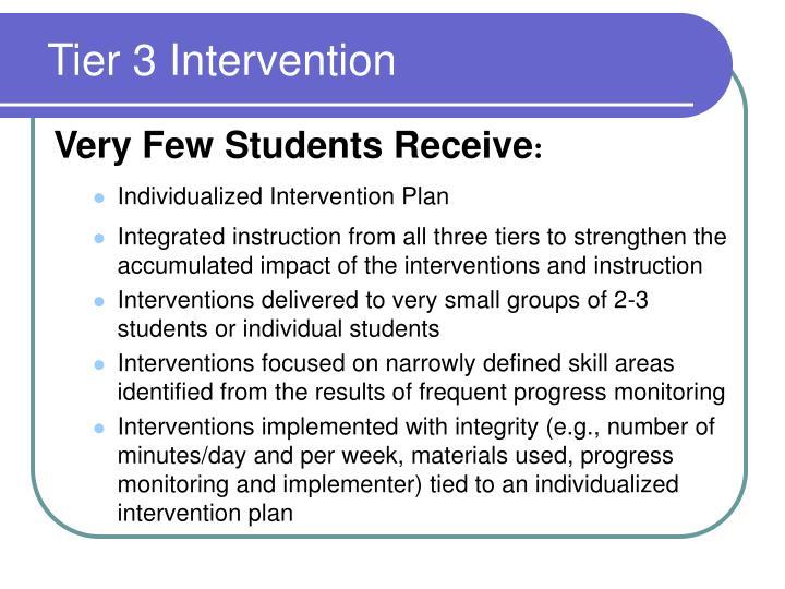 Tier 3 Intervention