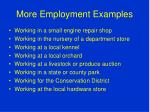 more employment examples