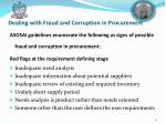 dealing with fraud and corruption in procurement