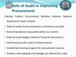 role of audit in improving procurement