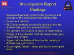 investigation report findings