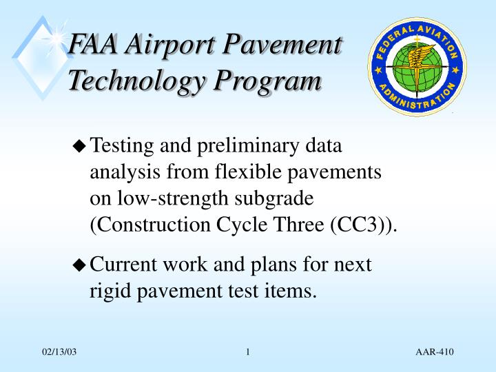 faa airport pavement technology program n.